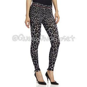 Betsey Rear bow grey leopard cheetah leggings M/L